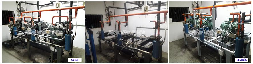 Transformación de instalación frigorífica para mejorar su eficiencia energética. foto-antes-y-despues-proyecto-realizado-2