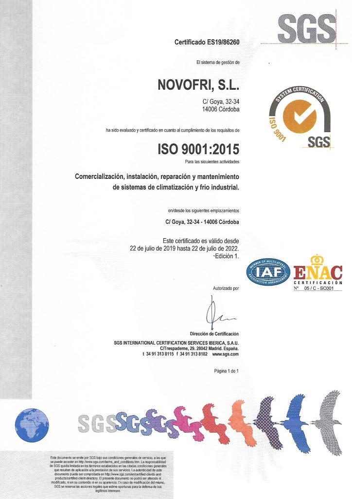 POLITICA DE CALIDAD Certificado-ES19-86260-724x1024